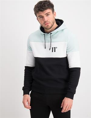 11 DEGREES Triple Panel Cut And Sew Pullover Hoodie 11D572-495