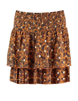 Colourful Rebel Daphne Paisley Mini Layer Skirt 9085