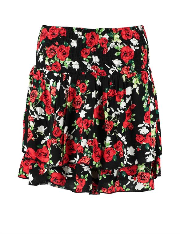 Colourful Rebel Daphne Roses Two Layer Skirt 10007