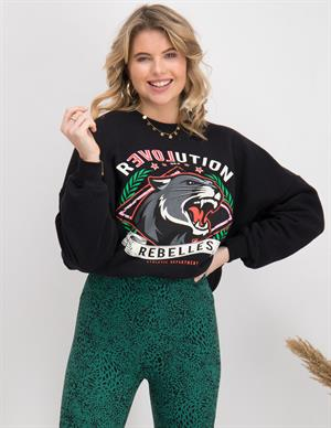 Colourful Rebel Revolution Dropped Shoulder Sweater 10035