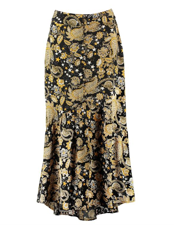 Colourful Rebel Rive Paisley High Low Skirt 10071