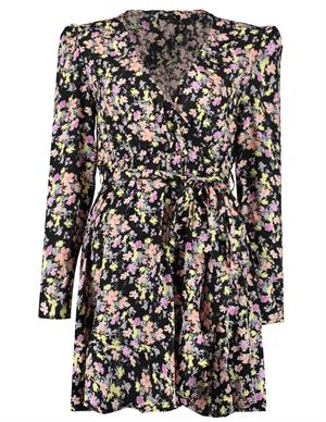 Colourful Rebel Ziggy Flower Mini Wrap Dress 10132