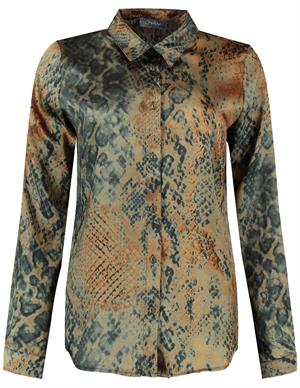 Geisha Blouse snake satin look 03644-20
