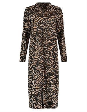 Geisha Dress animal print & ruffles 07896-20