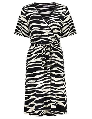 Geisha Dress zebra & strap at waist s/s 17130-20