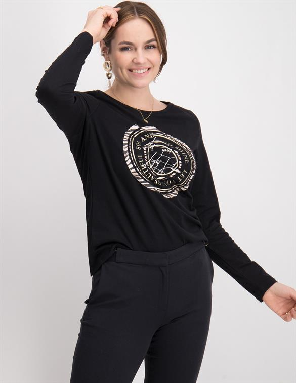 Geisha T-shirt circle animal combi 02885-41