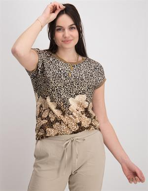 Geisha Top animal+flowers & tape 12069-20