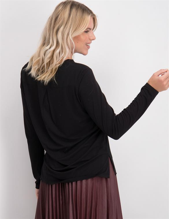 Geisha Top woven front/ knitted back 03522-10