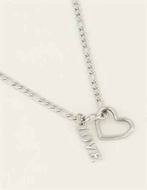 My Jewellery Ketting Bedels Hartje&Love MJ04484