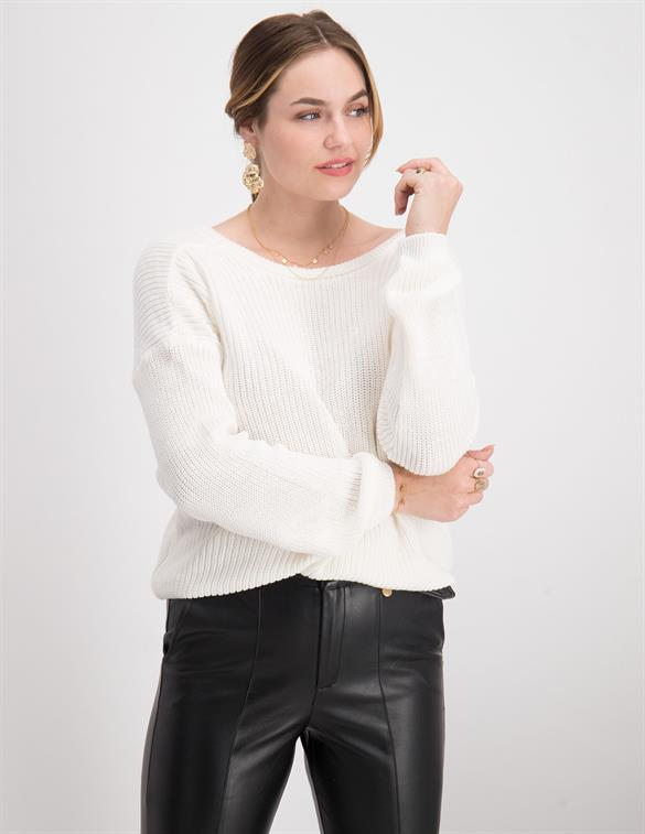 Nakd Knitted Deep V-neck Sweater Kn 1100-000412-0001-
