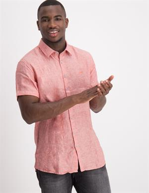 No Excess Linen Short Sleeve Shirt 95460307