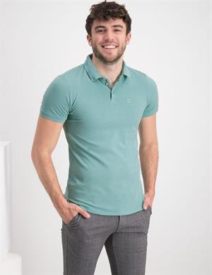 No Excess Polo Pique Stretch Stone Washed Org 11370101SN