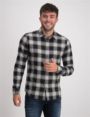 No Excess Shirt Flannel Check Herringbone Res 12430815