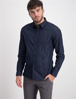 No Excess Shirt Long Sleeve Chambray Stretch 97480906