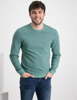 No Excess Sweater Crewneck Relief Double Fabr 11130102