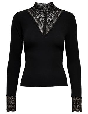 Only ONLTILDE L/S HIGH NECK LACE TOP JRS 15207788