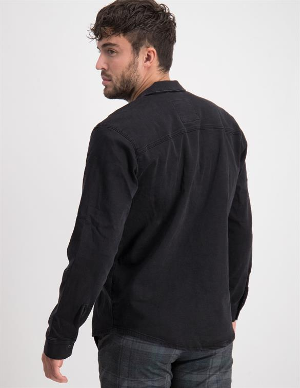 ONLY & SONS ONSBILLY LIFE BLACK OVERHIRT PK 818 22018181