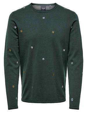 ONLY & SONS onsGARSON 12 EMBROIDERY KNIT 22012590