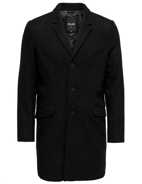 ONLY & SONS ONSJULIAN SOLID WOOL COAT OTW NOOS 22010254