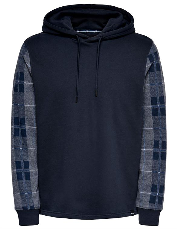 ONLY & SONS ONSLEAN CHECK LIFE REG HOODIE SWEAT 22018754