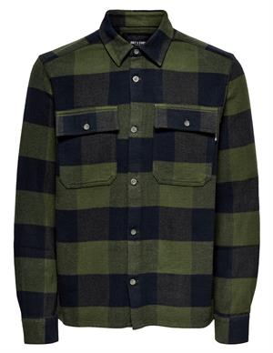 ONLY & SONS ONSSCOTT LS CHECK FLANNEL OVERSHIRT 22019782