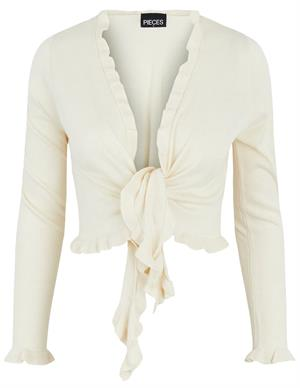 Pieces PCTINLEY LS CROPPED WRAP CARDIGAN B 17114223