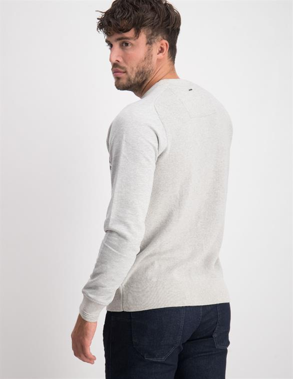 PME Legend Crewneck cotton jacquard knit PKW206326
