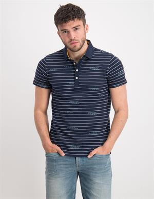 PME Legend Short sleeve polo yd stripe pique PPSS203814