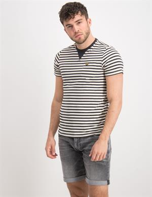 PME Legend Short sleeve r-neck yarn dyed stri PTSS212532