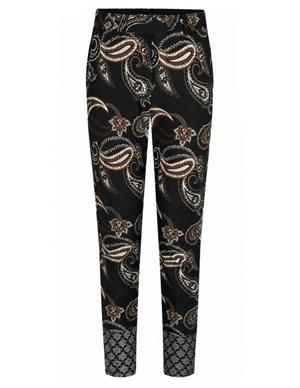 Tramontana Trousers Travel Dark Paisley Print Q03-96-101