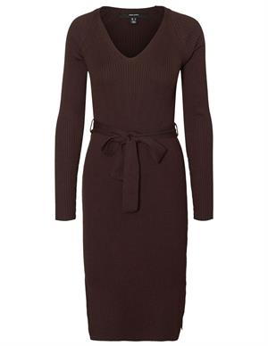 Vero moda VMBARBARA LS V-NECK BELT DRESS GA 10234150