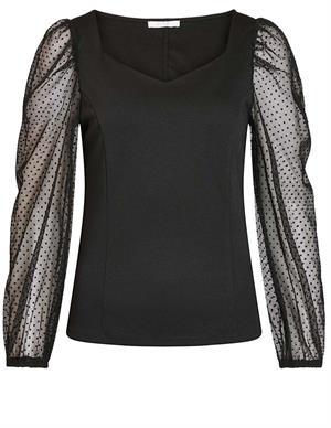 Vila VISPENSA SQUARE NECK L/S TOP/DES 14061052
