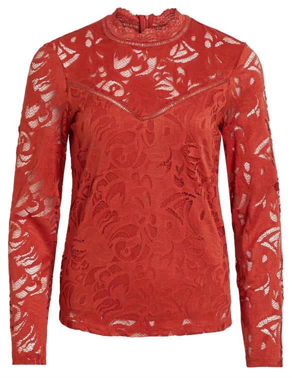 Vila VISTASIA L/S LACE TOP-FAV 14044847