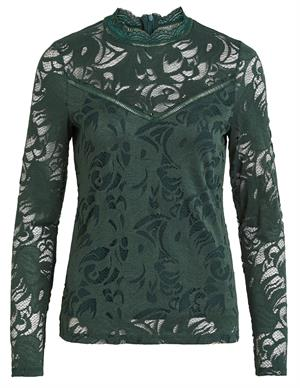 Vila VISTASIA L/S LACE TOP-NOOS 14041864