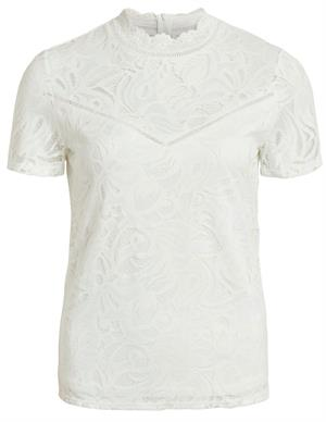 Vila VISTASIA S/S LACE TOP - NOOS 14049852